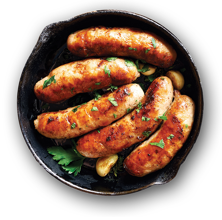 Plate of Sausages