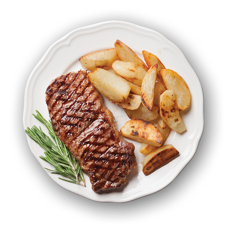 Plate of Steak and Potatoes